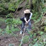 Descenso por una cuerda a la Catarata