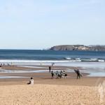 Surfistas Playa de Bastiagueiro