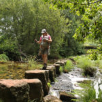 Antigua pasarela de piedras del río Coroño