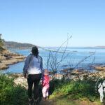 Puerto de Lorbé con sus famosas bateas